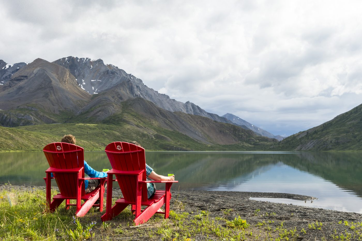 Parks Canada photo shoot in Naats'ihch'oh National Park Reserve